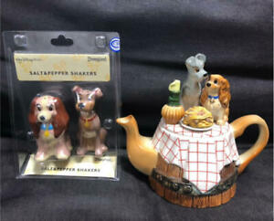 Disney Lady and the Tramp Anime Teapot Salt & Pepper Shakers Disney Collection