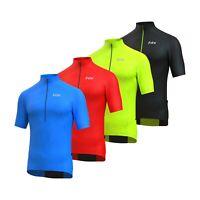 FDX Half Sleeve Cycling Jersey with Short Zipper, Hi Vis Back & Zipped Pocket