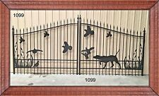 On Sale! Steel Driveway Gate 14' Wd #1099 Inc Post Package Residential Security