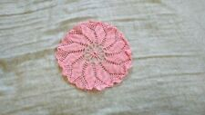 Handcrafted Crochet Pink & Grey Doily