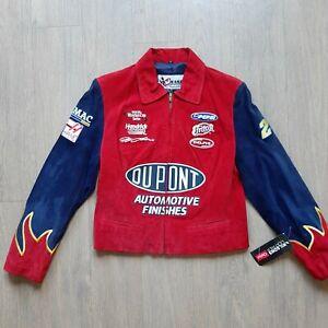 NASCAR RACING JACKET DUPONT JEFF GORDON FLAMES CHASE AUTHENTICS WOMENS Medium