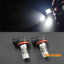 Pair 60W H8 H11 White LED Fog Lights Driving Light Projection Bulbs High Power