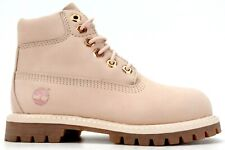 """Timberland Toddlers 6"""" Premium Waterproof Suede Light Pink Boots US 11 EU 28.5"""