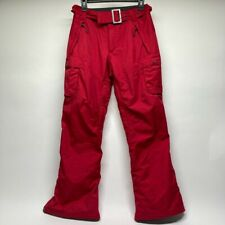 Vintage Nike ACG FitStorm 3 Outer Layer Red Snow Pants Belted Vented Size Small