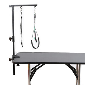 Adjustable Portable Dog Grooming Table Arm w/Clamp Foldable Puppy Pet Supply