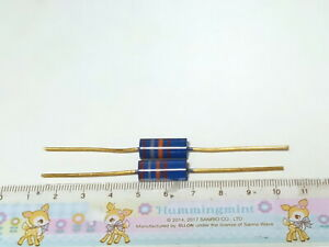 2 X MADE IN JAPAN RIKEN OHM RMG 18000 OHM 18K 1% 2W AUDIO GRADE CARBON RESISTOR