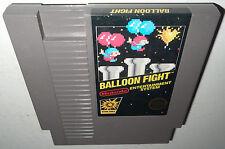GOOD COND 5 Screw Nintendo NES Game BALLOON FIGHT Cleaned Super Fun RARE!