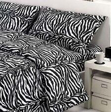 Completo Lenzuola Una Piazza e Mezza FLANELLA Disegno Zebrato Zebra Flanellate