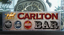 CARLTON Rustic Wooden BAR Plaque / Sign (FREE POST)