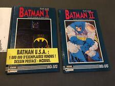 Rares BATMAN 1+2 Miller (dessin Moebius) Aedena EO Quasi NEUFS!