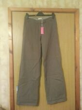 Saltwater Ladies Cotton Drill Trousers Khaki Size 12