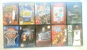 Mixed Lot NBA Basketball Dvds x 10 ~ Jordan, ONeal, Bryant, Garnett, Wade + More