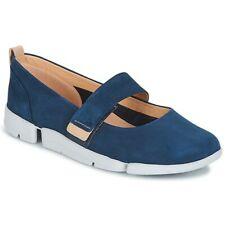 Clarks Tri Carrie Navy Nubuck Women's  Mary Jane Shoes UK Size 5 E