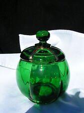 X-Ray Emerald Green covered sugar Riverside glass eapg