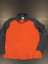 ICEBREAKER Mens L BodyFit 260 Merino Wool 1/4 Zip Pullover Base Shirt Orange