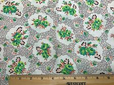 Vintage Cotton Feedsack Fabric 30s PRETTY Chic not Shabby Roses EXC