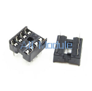 20Pcs 8pin DIP IC Socket Adaptor Solder Type Socket Pitch Dual Wipe Contact NEW