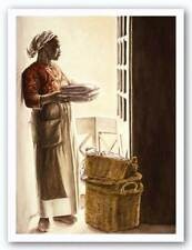 Lady By The Window Watercolor Giclee Consuelo Gamboa African American Art 22x30
