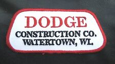 DODGE CONSTRUCTION EMBROIDERED SEW ON PATCH COMPANY WATERTOWN, WI ADVERTISING
