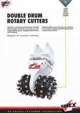 Simex Planers Wheel Excavators Modellprogramm Baumaschinen 2003 Prospekt Europa