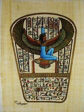 "Ancient Alphabet Goddess Isis  Original Hand Painted Papyrus 8""X12"" (20x30 Cm)"