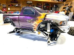 RCSparks Collection: Chameleon & Flaming Dodge 4x4 Axial SCX10 1:10 Trail Truck