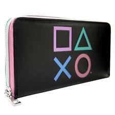 Nouveau Officiel Playstation Bouton symboles Noir Pièce De Monnaie & Carte Embrayage Sac à main
