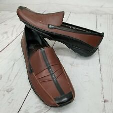 Sesto Meucci Womens 6M Driving Loafers Leather Slip On Shoes Brown Black