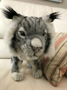 Hansa Iberian LYNX 5185 Gray White Airbrushed 2004 Wire Poseable 17 inch Retired