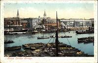 London Großbritannien AK 1903 Harbor Port Hafen Ships gelaufen nach Pfedelbach