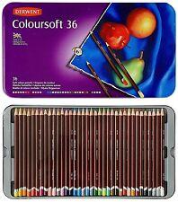 Derwent Colorsoft Pencils, 4mm Core, Metal Tin, 36 Count 0701028