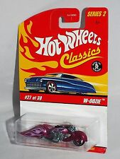 Hot Wheels Classics Series 2 #27 W-Oozie Motorcycle Spectraflame Pink