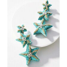 Anthropologie Suzanna Dai Caicos Starfish Drop Earrings NWT