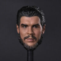 "1/6th Che Guevara Head Sculpt For 12"" Male Doll Figure Body Model Toy"
