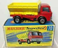 Matchbox Lesney Superfast  70 Ford D Series Grit Spreader Boxed