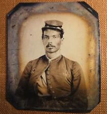 Civil War African American Union Soldier with Zouave Uniform RP tintype C1168RP