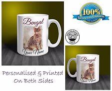 Bengal Cat Personalised Ceramic Mug: Perfect Gift. (CA01)