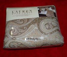 Ralph Lauren DESERT SPA PAISLEY Full Queen Duvet Cover + 1 Standard Sham