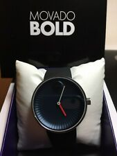 Brand New Movado Edge Blue Dial Silicone Men's Watch 3680004
