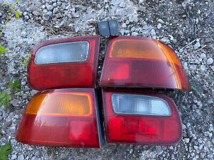 Honda Civic 92 93 94 95 Rear Fog Light Kit With Amber Corners HB EDM JDM OEM