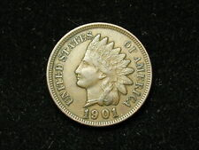 SUMMER SALE!! XF+ 1901 INDIAN HEAD CENT PENNY w/ DIAMONDS & FULL LIBERTY #75s