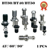 BT30/BT40/BT50 45° 60° 90°  Pull Stud Retention Knob CNC Milling Tool Holder UK