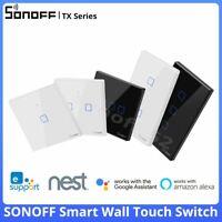 SONOFF TX WiFi Smart Wall Light Switch EU US UK APP Remote Control Alexa eWeLink