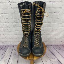 """Wesco West Coast Shoe Co. 16"""" Black Leather Boots Mens Size 11 D"""