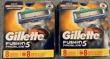2 LOT Gillette Fusion 5 PROGLIDE Refill Cartridges/Blades 2 packs - 8 = 16 TOTAL
