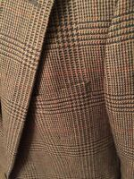 Chaps Lambs Wool By Ralph Lauren Sports Coat Blazer Jacket Size 42R Houndstooth