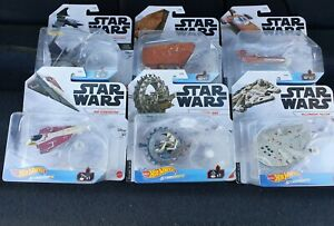 Hot Wheels Star Wars Starships ~Lot (6)~ Free Shipping~