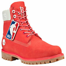 Timberland Men's X NBA Houston Rockets Team Boots in Red Nubuck ALL SIZES