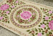 1:12 Beautiful Beige Flower Bunch Garland Floral Miniature Rug