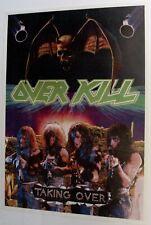 Overkill Original Taking Over 1987 Promo Poster